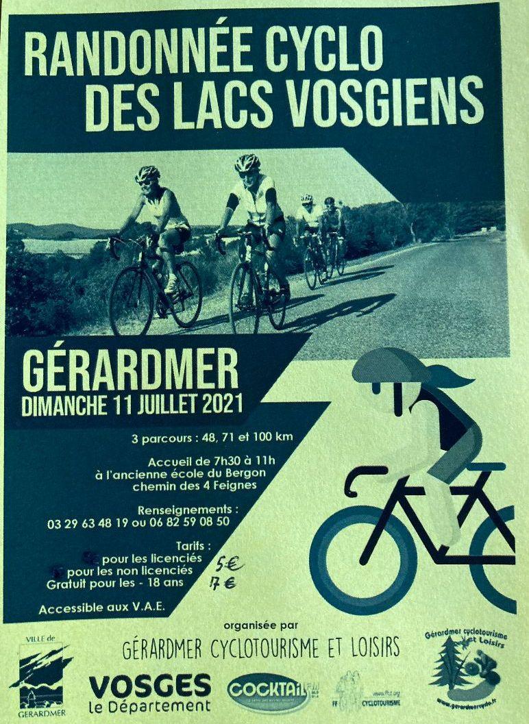 RANDONNEE CYCLO DES LACS VOSGIENS @ Ancienne Ecole du Bergon | Gérardmer | Grand Est | France
